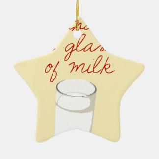 Strudel And A Glass Of Milk Ceramic Ornament