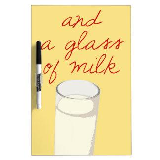 Strudel And A Glass Of Milk Dry-Erase Board