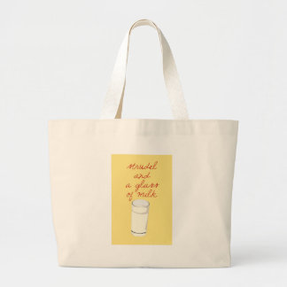 Strudel And A Glass Of Milk Large Tote Bag