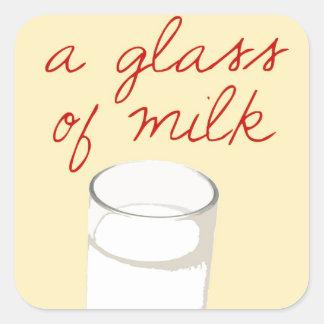 Strudel And A Glass Of Milk Square Sticker