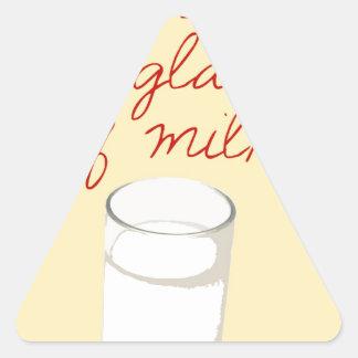 Strudel And A Glass Of Milk Triangle Sticker