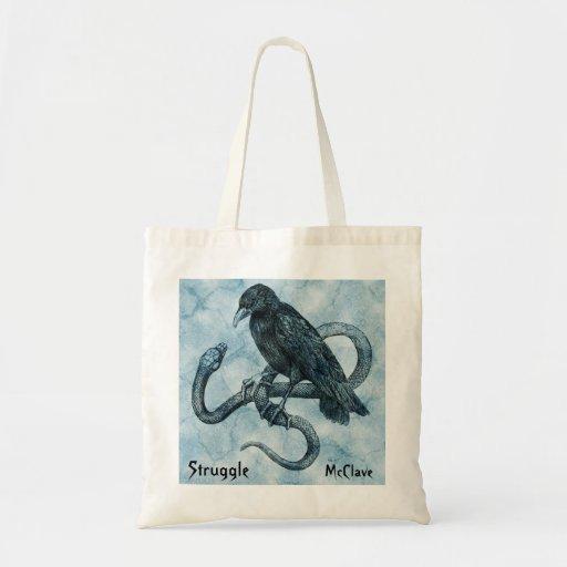 Struggle tote bags