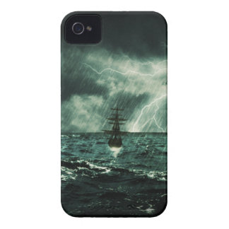 struggling from storm - sailing ship iPhone 4 Case-Mate case