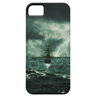 struggling from storm - sailing ship iPhone SE/5/5s case