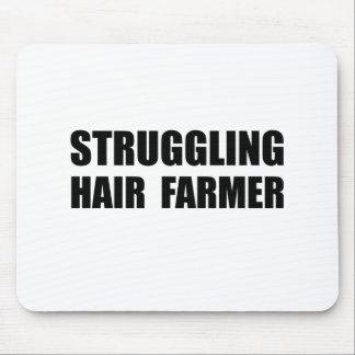 Struggling Hair Farmer Mouse Pad