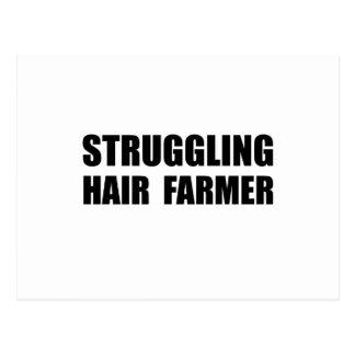 Struggling Hair Farmer Postcard