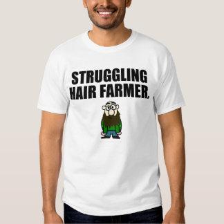 STRUGGLING HAIR FARMER T SHIRT