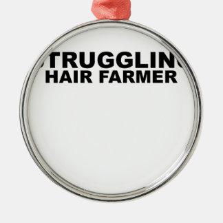 Struggling Hair Farmer Tees.png Metal Ornament