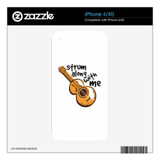 Strum Along Decals For The iPhone 4S