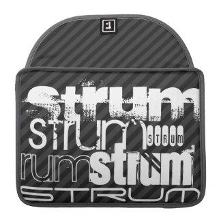 Strum; Black & Dark Gray Stripes MacBook Pro Sleeve
