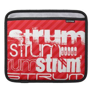 Strum; Scarlet Red Stripes Sleeve For iPads
