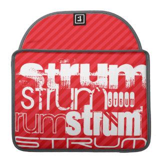 Strum; Scarlet Red Stripes Sleeve For MacBooks