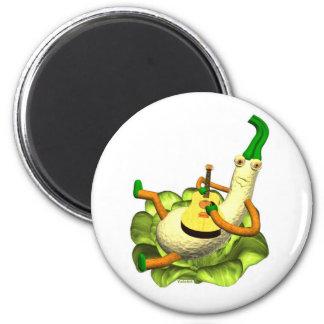 Strummer squash plays a tune 2 inch round magnet