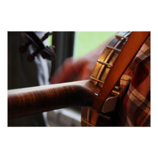 Strummin' on the ole' banjo poster