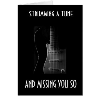 STRUMMING A TUNE FOR YOUR BIRTHDAY CARD