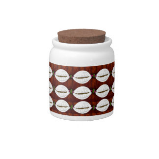 strung cowrie shell candy jars