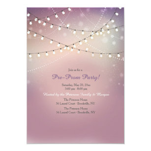 Strung Lights Pre Prom Party Invitation