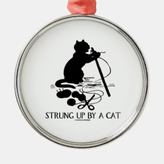Strung Up By A Cat (Cat Yarn Silhouette) Ornament