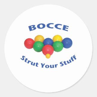 Strut Your Stuff Bocce Ball Classic Round Sticker