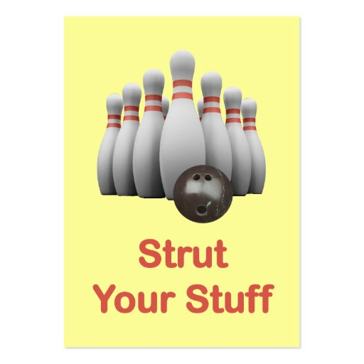 Strut Your Stuff Bowling Business Card