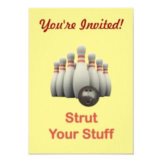 Strut Your Stuff Bowling Card