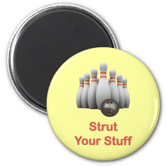 Strut Your Stuff Bowling Fridge Magnets