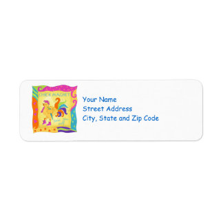 Strut Your Stuff Chick Magnet Address Label