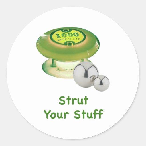 Strut Your Stuff Pinball Sticker