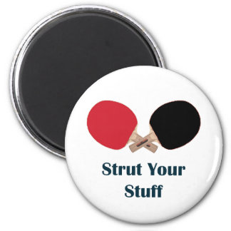 Strut Your Stuff Ping Pong Refrigerator Magnets