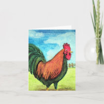 Strut Your Stuff Rooster Bird Note Card