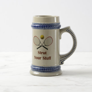 Strut Your Stuff Tennis Beer Stein