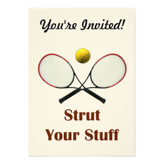 Strut Your Stuff Tennis Custom Announcement