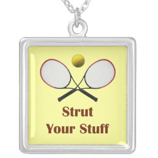 Strut Your Stuff Tennis Square Pendant Necklace