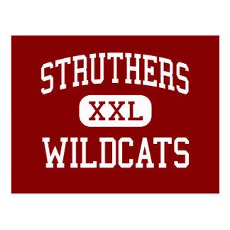 Struthers - gatos monteses - centro - Struthers Tarjeta Postal