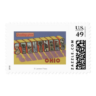 Struthers, Ohio - Large Letter Scenes Stamps