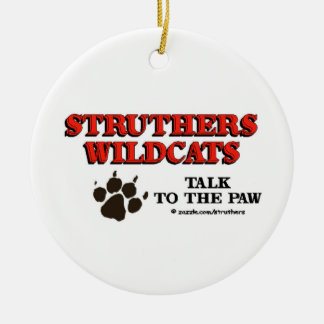 Struthers Talk to the Paw Double-Sided Ceramic Round Christmas Ornament