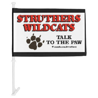 Struthers Wildcats Car Flag
