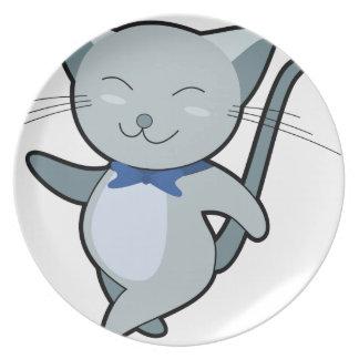 Strutting Cat Dinner Plate