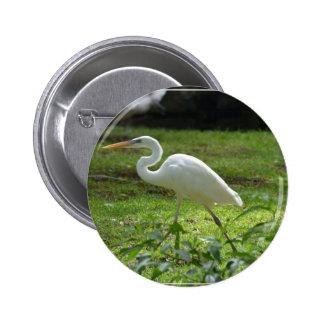 Strutting Egret 2 Inch Round Button