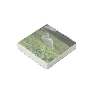 Strutting Egret Stone Magnet