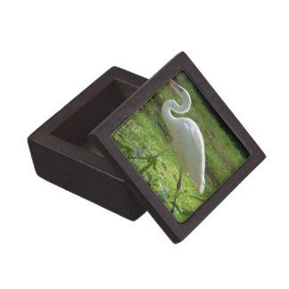 Strutting Egret Premium Keepsake Boxes