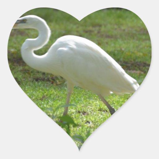 Strutting Egret Sticker