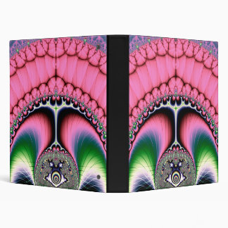 Strutting Peacock Fractal Binder