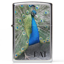 Strutting Peacock Photo Zippo Lighter