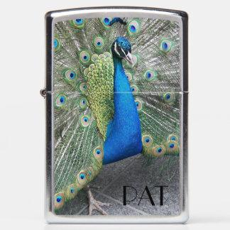 Strutting Peacock Photo Zippo Lighter
