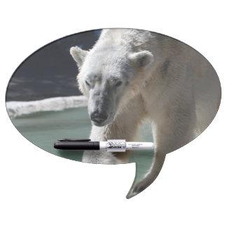 Strutting Polar Bear Dry Erase White Board
