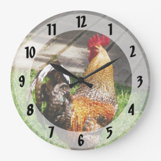 Strutting Rooster Large Clock