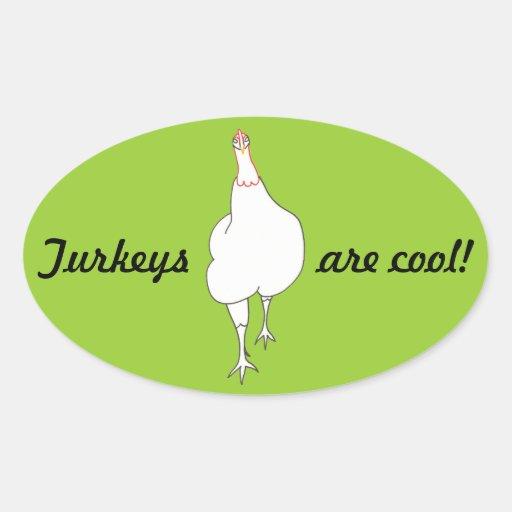 Strutting Turkey, Turkeys are cool, stickers Stickers