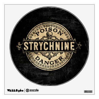 Strychnine Vintage Style Poison Label Wall Decal