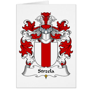 Strzela Family Crest Greeting Card